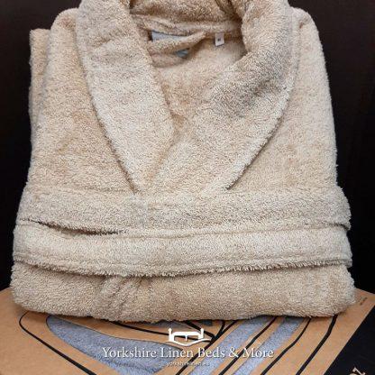 Zafiro Cotton Bathrobes Beige - Yorkshire Linen Beds & More Bed and Linen Shops Mijas Costa Marbella P01