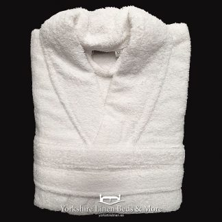 Zafiro Cotton Bathrobes White - Yorkshire Linen Beds & More Bed and Linen Shops Mijas Costa Marbella P01