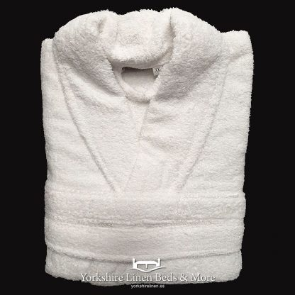 Zafiro Cotton Bathrobes White - Yorkshire Linen Beds & More Bed and Linen Shops Mijas Costa Marbella P01
