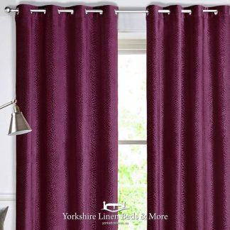 Crocodile Velvet Curtain Panels Cassis