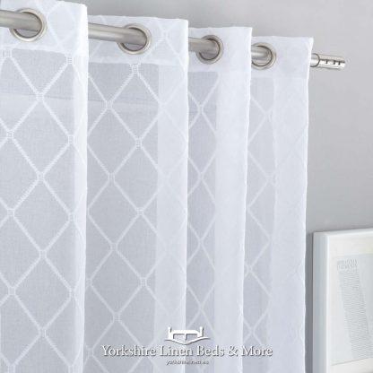 Estela White Voile Panel - Yorkshire Linen Beds & More Fuengirola Marbella Spain P01