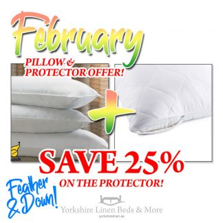 Feather & Down Pillow & Pillow Protector Offer P03