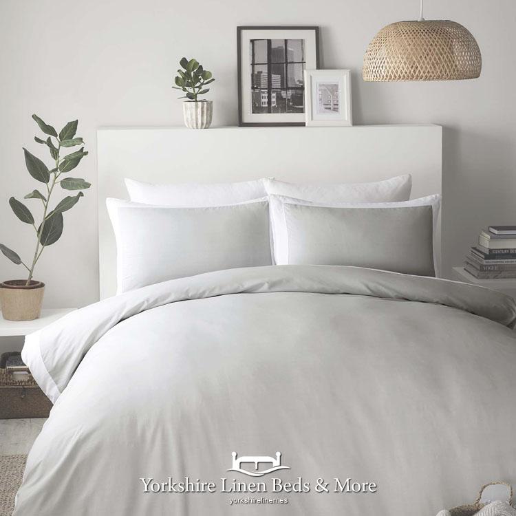 Madison Dove Grey Duvet Set Yorkshire, Yorkshire Linen Bedding Sets