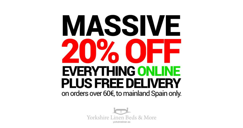 20% OFF Everything Online, plus Free Delivery, too!!
