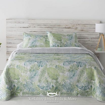 Acapulco Mint and Teal Bedspread - Yorkshire Linen Beds & More Mijas Costa Marbella Spain P01