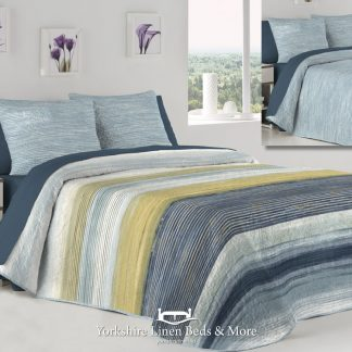 Carter Lightweight Bedspread Blue - Yorkshire Linen Beds & More