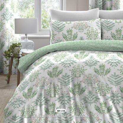 Emilia Green Duvet Cover Set - Yorkshire Linen Beds & More
