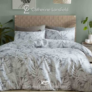 Montego Bay Grey Reversible Duvet Cover Set - Yorkshire Linen Beds & More