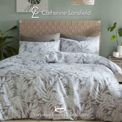 Montego Bay Grey Reversible Duvet Cover Set - Yorkshire Linen Beds & More