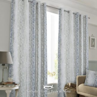 Portofino Ring Top Lined Curtains Duck Egg - Yorkshire Linen Beds & More