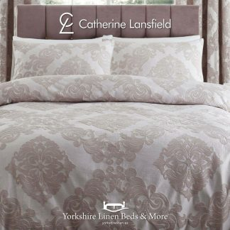 Rococo Blush Jacquard Duvet Cover Set - Yorkshire Linen Beds & More
