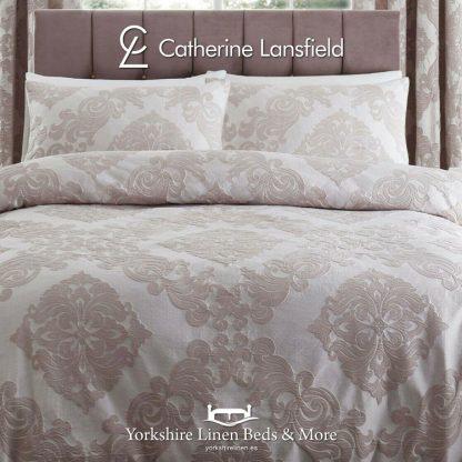 Rococo Blush Jacquard Duvet Cover Set - Yorkshire Linen Beds & More