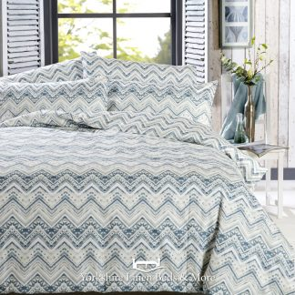 Vantona Fallon Duvet Cover Set Green - Yorkshire Linen Beds & More