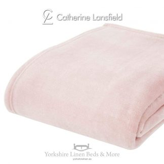 XL Velvet Plush Throw Blush Pink - Yorkshire Linen Beds & More