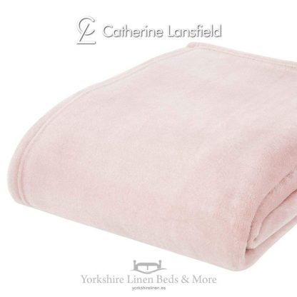 XL Velvet Plush Throw Blush Pink - Yorkshire Linen Beds & More