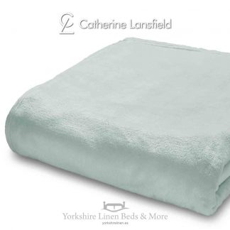 XL Velvet Plush Throw Mint - Yorkshire Linen Beds & More