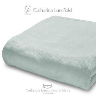 XL Velvet Plush Throw Mint - Yorkshire Linen Beds & More