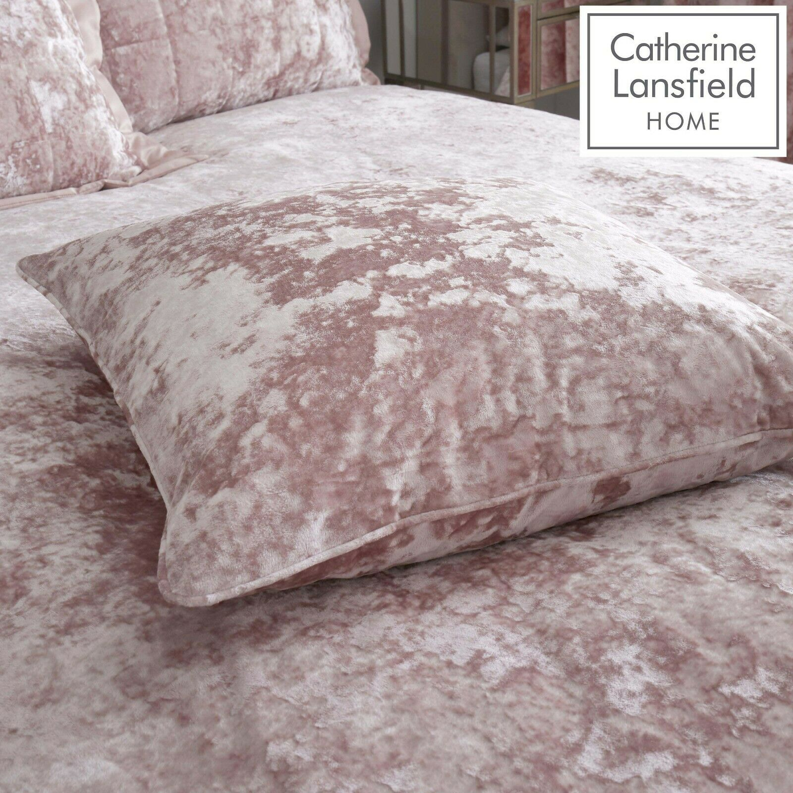 Crushed Velvet Ring Top Curtains In Blush Pink Yorkshire Linen Beds And More