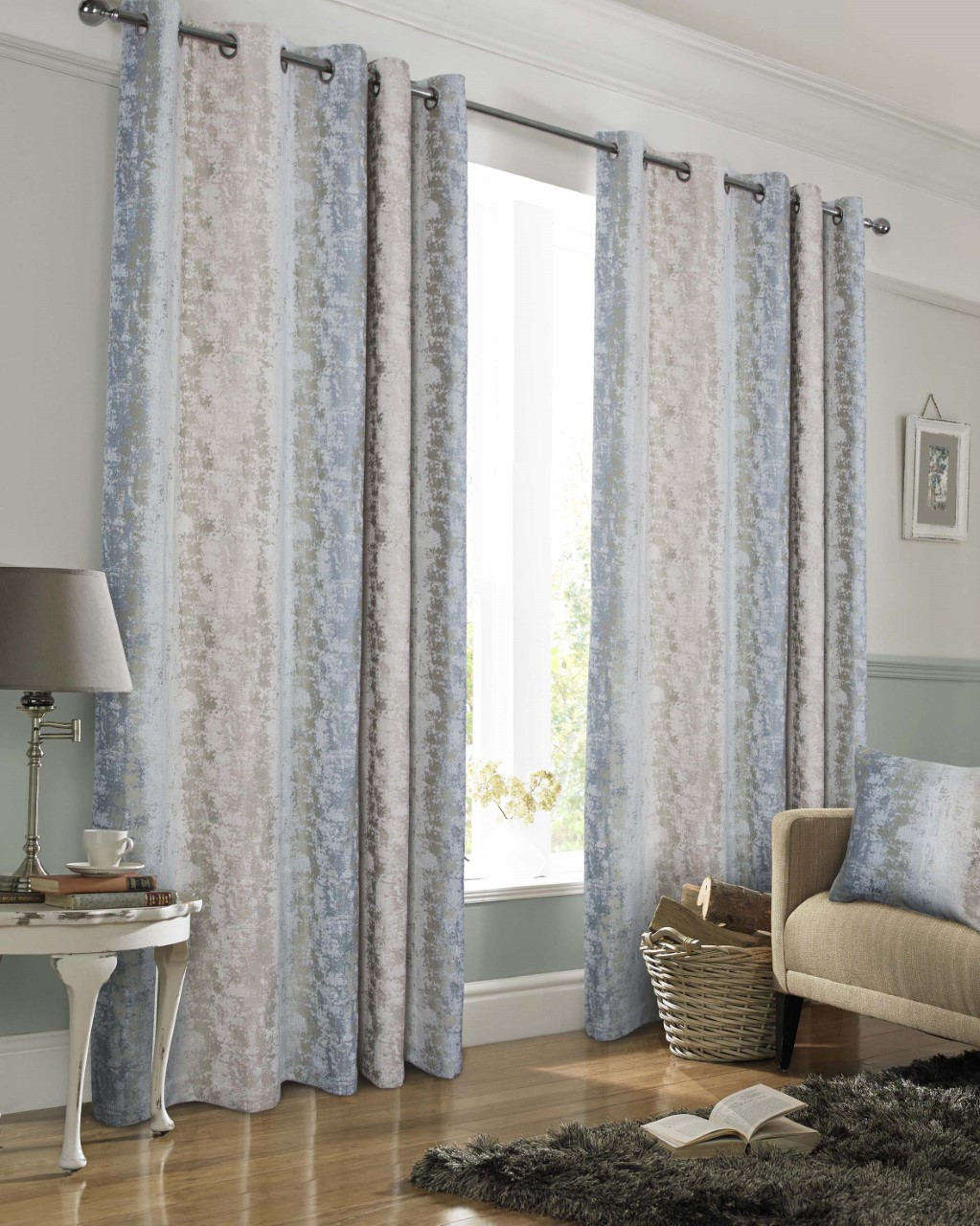 Portofino Blush Silver Heavyweight Curtains Yorkshire Linen Beds And More