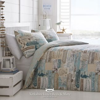 Beachwood Teal Duvet Cover Set - Yorkshire Linen Beds & More P01