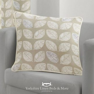 Delia Linen Look Cushions Natural - Yorkshire Linen Beds & More