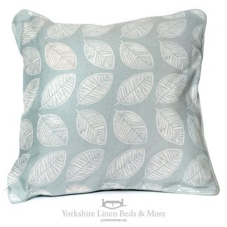 Delia Linen-Look Cushions in Duck Egg Blue - Yorkshire Linen Beds & More