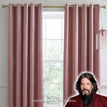 Montrose Blackout Curtains Blush Pink Laurence Llewelyn-Bowen Yorkshire Linen Beds & More P01
