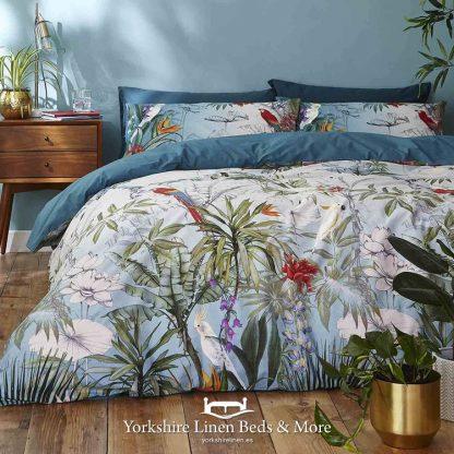 Paraiso Teal Duvet Cover Set by Accessorize - Yorkshire Linen Beds & More