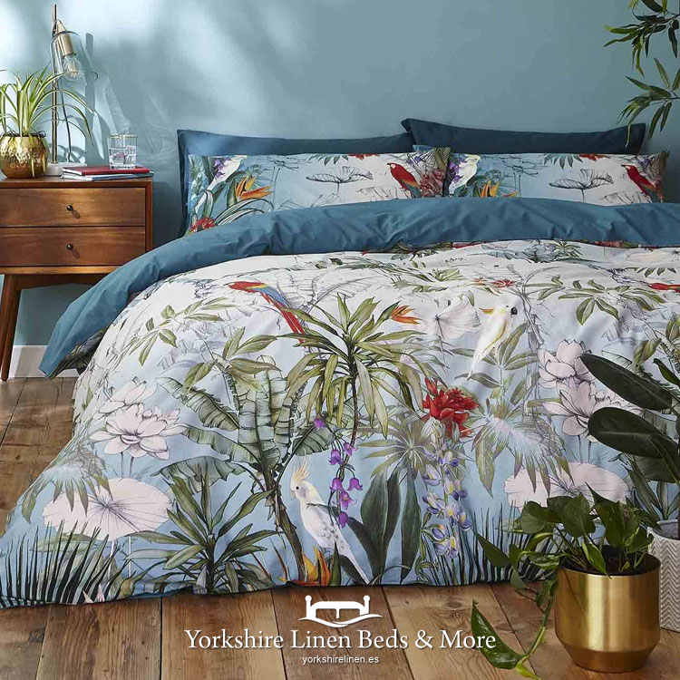 Paraiso Teal Duvet Cover Set By, Yorkshire Linen Bedding Sets