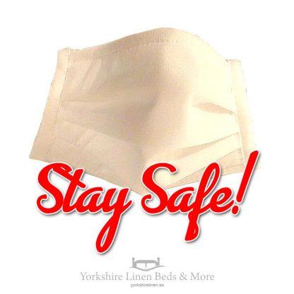 Stay Safe - Face Masks Approved Sanitary Masks Yorkshire Linen Beds & More P01