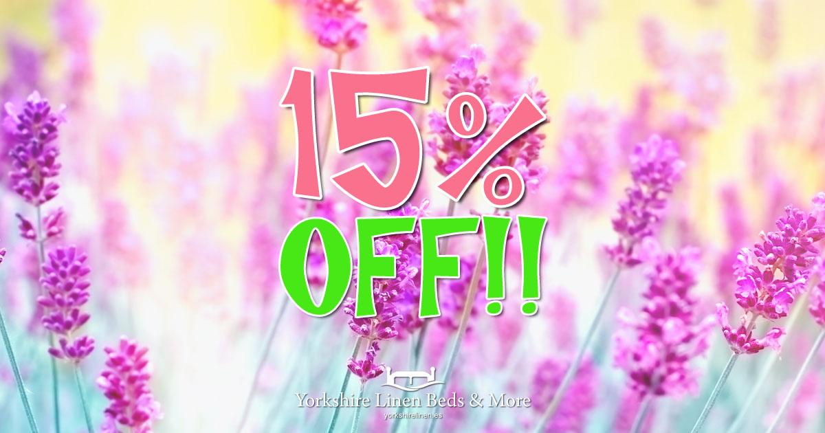 15% Off Everything at Yorkshire Linen Beds & More OG01