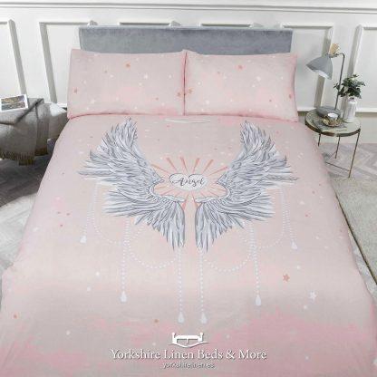 Angels Duvet Cover Set Blush Pink - Yorkshire Linen Beds & More P01