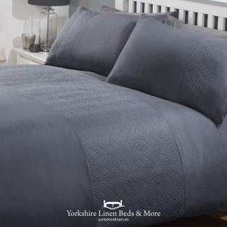 Atlantic Promo Duvet Cover Set Charcoal Grey - Yorkshire Linen Beds & More P01