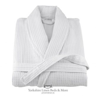 Hotel Quality Waffle Bathrobe 100pc Cotton - Yorkshire Linen Beds & More P03