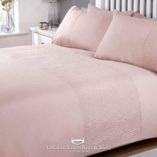Lola Promo Duvet Cover Set Blush Pink - Yorkshire Linen Beds & More P01