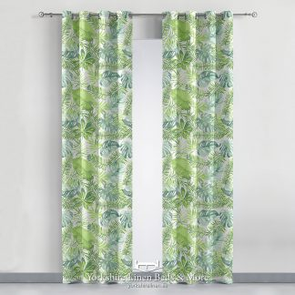 Acapulco Mint Curtain Panel - Yorkshire Linen Beds & More P01