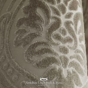 Charlotte Luxury Lined Damask Curtains Natural - Yorkshire Linen Beds & More P04
