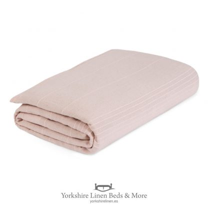 Lacey Cotton Throws Blush Pink - Yorkshire Linen Beds & More P01