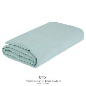 Lacey Cotton Throws Mint - Yorkshire Linen Beds & More P01