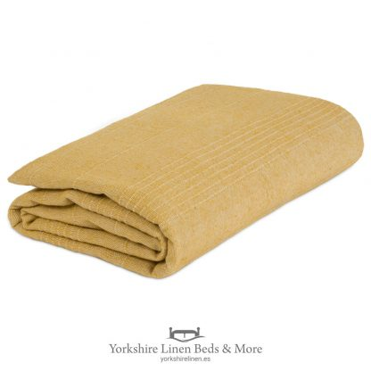 Lacey Cotton Throws Ochre - Yorkshire Linen Beds & More P01