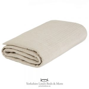 Lacey Cotton Throws Stone - Yorkshire Linen Beds & More P01
