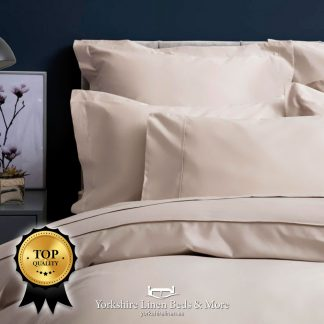Pima Cotton Sateen 450TC Duvet Cover Oyster - Yorkshire Linen Beds & More P02