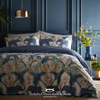 Safari Teal Duvet Cover Set - Yorkshire Linen Beds & More P01