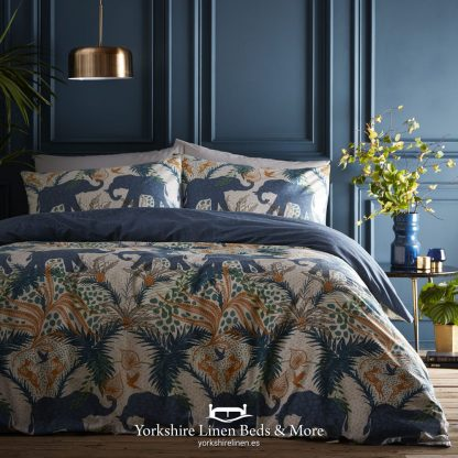 Safari Teal Duvet Cover Set - Yorkshire Linen Beds & More P01