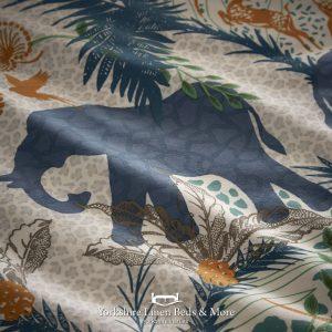 Safari Teal Duvet Cover Set - Yorkshire Linen Beds & More P02