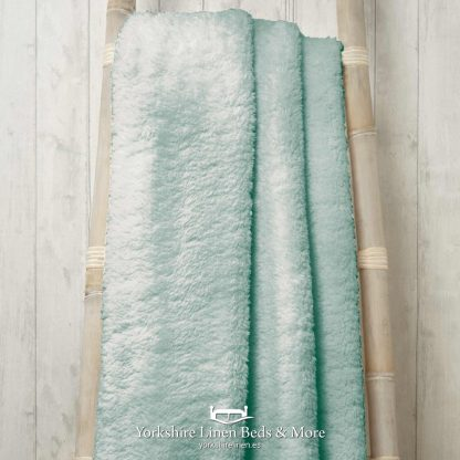 Super Soft Teddy Throws Duck Egg Blue - Yorkshire Linen Beds & More P01