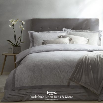 Tate Silver and Grey Duvet Cover Set - Yorkshire Linen Beds & More P01
