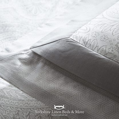 Tate Silver and Grey Duvet Cover Set - Yorkshire Linen Beds & More P02