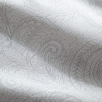 Tate Silver and Grey Duvet Cover Set - Yorkshire Linen Beds & More P03