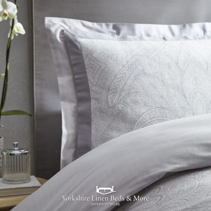 Tate Silver and Grey Duvet Cover Set - Yorkshire Linen Beds & More P04